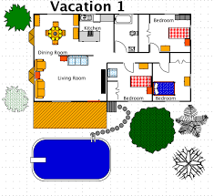 vacation cottage plans vacation house style a free ez architect floor plan for windows