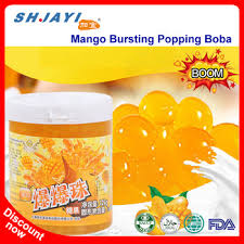 Mango Boom new product mango flavor popping boba fruit juice in popping balls