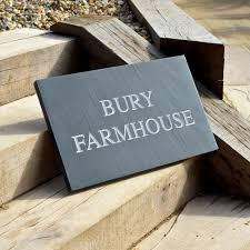 slate house signs signapp design your own sign any material