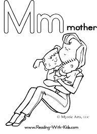 mother alphabet coloring pages preschool