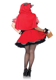 red black 2 pc red riding hood wolf costume amiclubwear costume