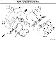 2007 honda vtx1300 vtx1300r rear fender grab rail parts best oem