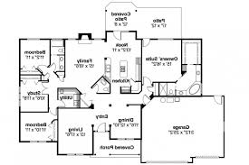 one story brick ranch house plans one story ranch style