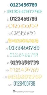 my favorite free number fonts number fonts fonts and number