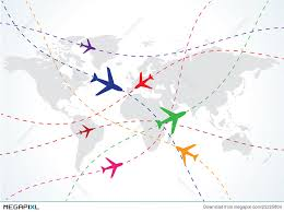 map travel world travel map with airplanes illustration 25225804 megapixl