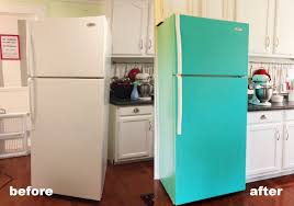 how to make your fridge look like a cabinet diy painted refrigerator cozy crooked cottage