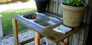 Build Your Own Outdoor Wood Table by Build Your Own Outdoor Utility Sink Today U0027s Homeowner