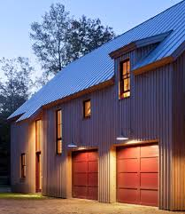 red garage door modern united states with contemporary household