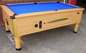 Slate Bed Superleague Beech 7x4 Slate Bed Pub Pool Table