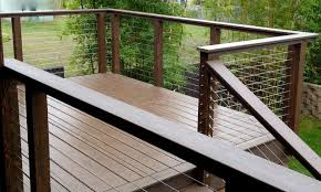 invisible wire railing modern deck san diego by san diego