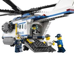 amazon com lego city police helicopter surveillance building set
