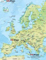 Geographical Map Of Europe by Physical Map Of Europe Free Download For Smartphones Tablets