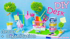 Desk Decoration Ideas Diy Desk Decor And Organization Ideas U2013 Mini Baby Room Style Youtube