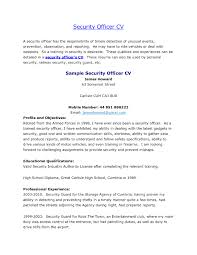 sample resume for on campus job sample cover letter for security guard resume cover letter