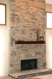 stacked stone electric fireplaces installing faux fireplace diy