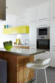 White Modern Kitchen by Small Apartment Kitchen Island