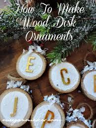wood disk ornaments what meegan makes