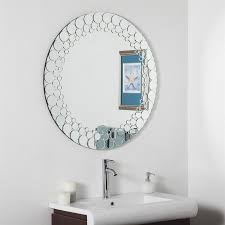Framed Bathroom Mirrors by Shop Decor Wonderland Circles 35 In X 35 In Round Framed Bathroom