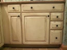 Antiquing Kitchen Cabinets Cream Distressed Cabinets Bar Cabinet