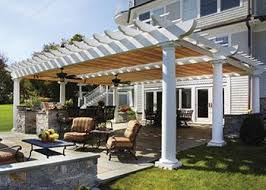 Shade Backyard Vinyl Pergola Wood Pergolas Shade Pergolas Walpole Woodworkers