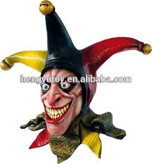 jester mask high quality overhead happy jester mask rubber