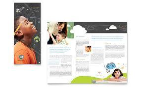 education foundation u0026 tri fold brochure template word