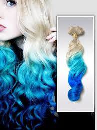 mermaid hair extensions blue ombre mermaid colorful indian remy clip in hair extensions