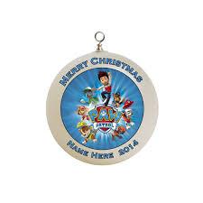 paw patrol christmas ornament custom gift 2