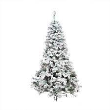 9 u0027 pre lit heavily flocked pine medium artificial christmas tree