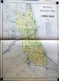 Maps Of Chicago by Railway Terminal Map Of Chicago 1912 Rand Mcnally Color Map With