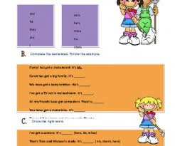 pronouns elementary worksheet