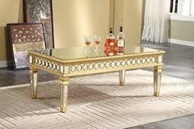 Elegant Decor Antique Mirrored Coffee Table Foter