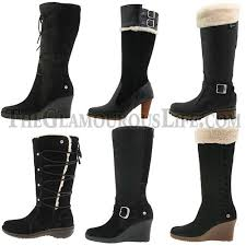womens ugg boots with heel womens ugg black boots