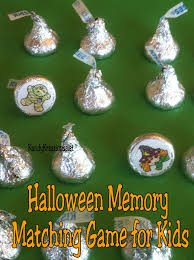 halloween hershey kisses easy halloween memory matching game for kids everyday parties