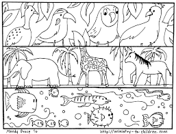 god made animals coloring page in omeletta me