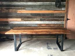 reclaimed wood table with metal legs wood desk with metal legs reclaimed wood table or desk square metal