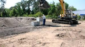 Recon Retaining Wall by Installation Of Precast Concrete Blocks By Big Iron Inc Avi Youtube
