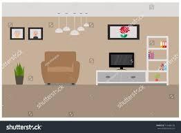 home living room interior design minimalist stock vector 715486135