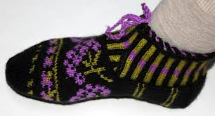 authentic traditional knitted slippers turkish socks home