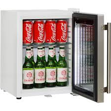 Stainless Steel Mini Fridge With Glass Door by Mini Glass Door Bar Fridge White Color Model Sc23 Schmick Great