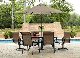 Solana Bay 7 Piece Patio Dining Set - 7 piece balcony height patio set patio outdoor decoration