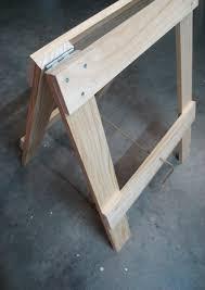 Diy Sawhorse Desk by Zelf Eenvoudig Inklapbare Pootjes Maken Tbv Tafel Zie Http