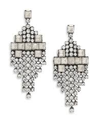 dannijo earrings lyst dannijo klein kite fringe earrings in metallic