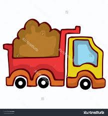 best hd stock vector cartoon dump truck design for kids drawing