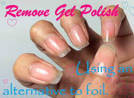 how to remove gel polish using an alternative to foil youtube