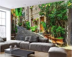 custom mural photo 3d wallpaper european street scenery home decor