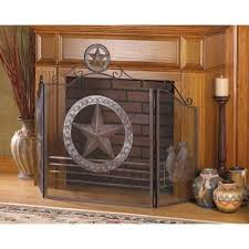 rustic lone star western home decor fireplace screen western