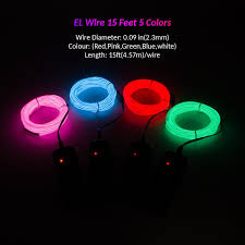 amazon com zitrades el wire portable neon light with battery pack