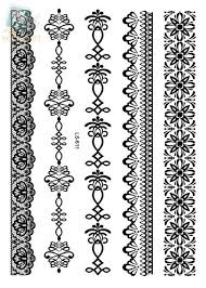 bracelet designs tattoo images Online shop ls611e new 2015 a5 sheet white temporary metallic lace jpg