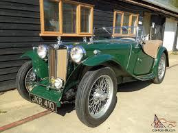 mg tc 1947 ex police car restored dark green beige interior 5